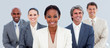 canvas print picture - Portrait of a competitive business team