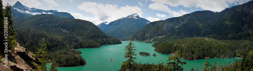 El Diablo Lake panorama Canvas Print