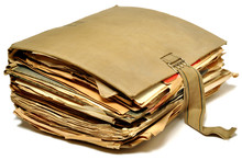 Vieux Dossier Sanglé