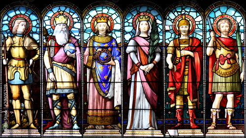 Obraz Les Saints au temps de Charlemagne - fototapety do salonu