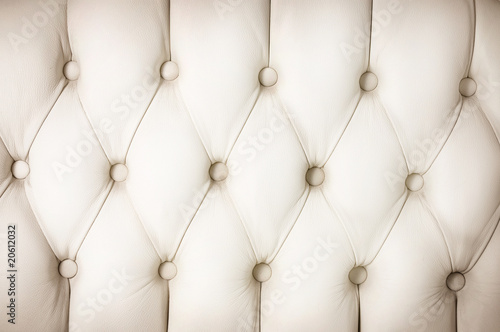 Fototapeta White Leather Upholstery background