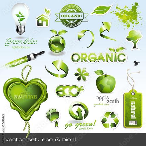 Fotografie, Obraz  vector icons: eco & bio II