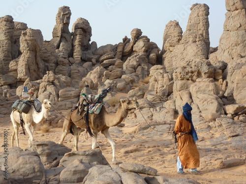 Deurstickers Algerije Touareg