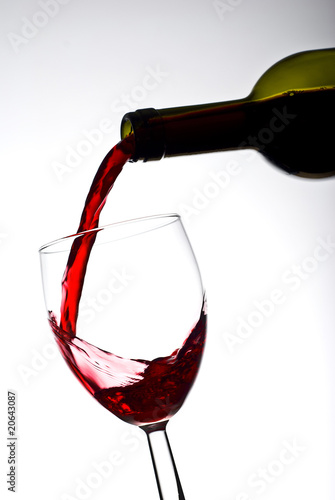 Filling glass of wine