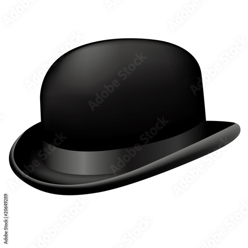 Fotografía  Bowler hat isolated on white