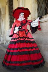Full decorative carnival costume in Venice
