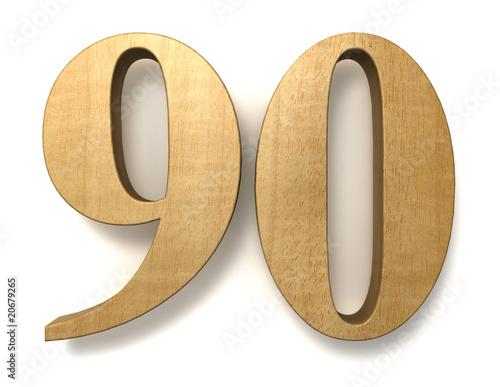 Photo  90 wooden birthday celebration anniversary
