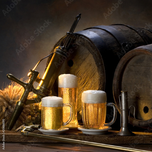 still life with beer #20686095