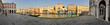 Venedig Grand Canale bei Sonnenuntergang Nähe Rialto Panorama