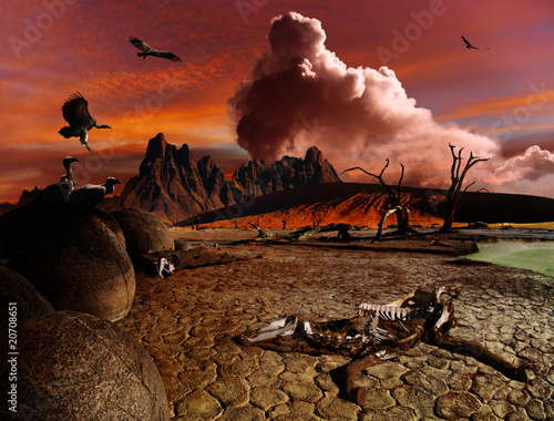 Canvas Prints Bordeaux Apocalyptic fantasy landscape