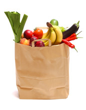 A Grocery Bag Full Of Healthy ...
