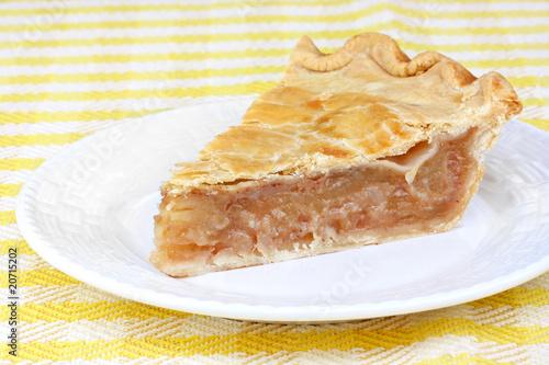 Photo  One slice of apple cinnamon pie