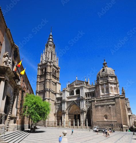 Fotografie, Obraz  Fachada  de la Catedral de Toledo