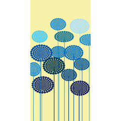 Fototapeta Kwiaty Abstract blue flowers