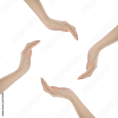 Valokuva  Schützende Hände