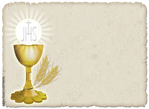 Garden Poster Draw Religione Calice e grano-Religion Cup and Corn-2
