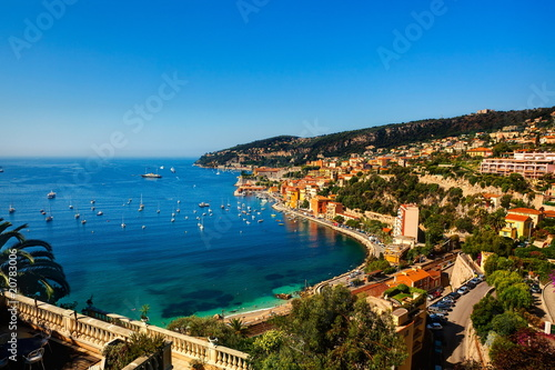villefranche sur mer on the french riviera france  cote d'azur фототапет
