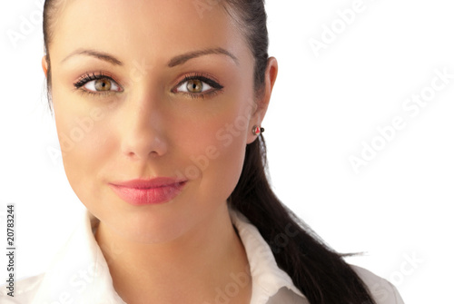 Photo  Attractive young woman celebrity-like portrait