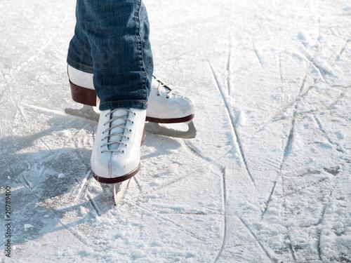 Fotobehang Wintersporten Skater