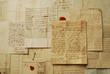 Leinwanddruck Bild - Old letters horizontal