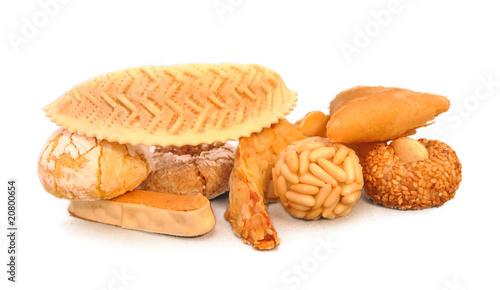 Leinwand Poster Assortiment de gâteaux arabes