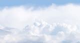 Wektorowa ilustracja cloudscape. Widok panoramiczny. - 20806498