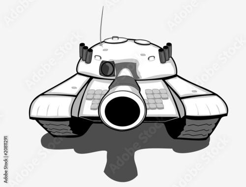 Fotografía Vector aiming tank
