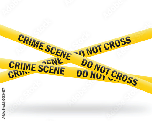 crime scene tape (vector) Fotobehang