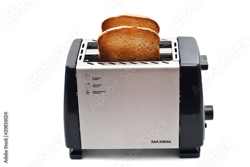 Fried bread in the toaster