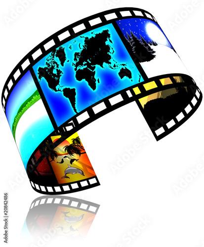 Fotografía Pellicola Cinema Mondiale-World Film-Cinema Mondial-3d