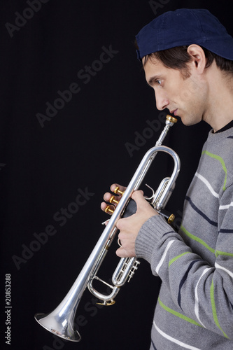 Photo Stands Music Band Trumpet player