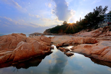Sunset On Coast, In Cheung Cha...