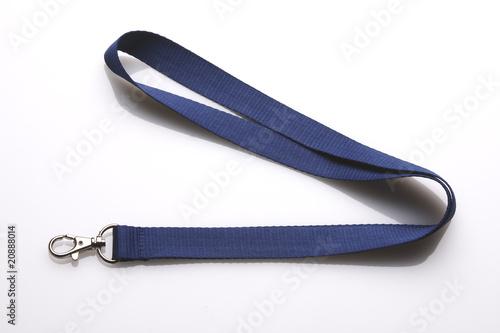 Photographie Schlüsselband blau