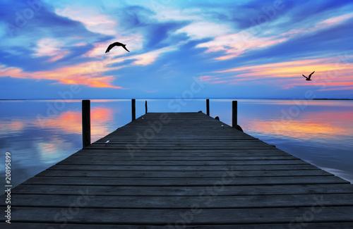 Tuinposter Pier camino hasta el cielo