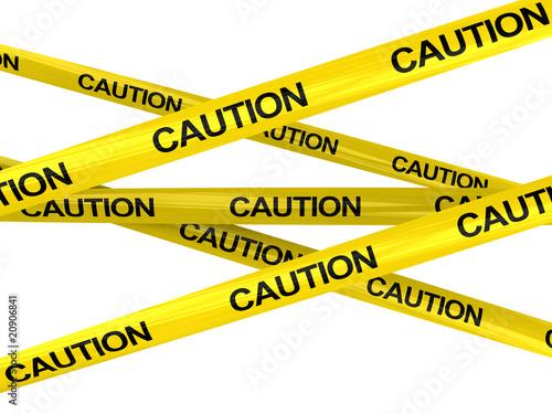 Fotografia  caution ribbons