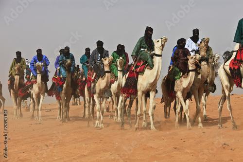 Spoed Fotobehang Kameel Mali, festival Tamadacht