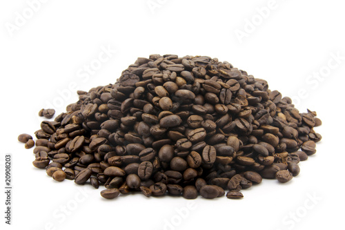 Poster Coffee beans Le café en grains