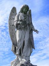 Angel Guardian Under Blue Sky