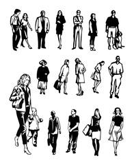 ordinary people silhoettes
