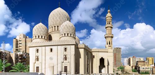 Tuinposter Egypte Mosque of Abu El Abbas Masjid, Alexandria, Egypt.