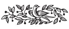 Antique Floral Ornament Engraving (vector)