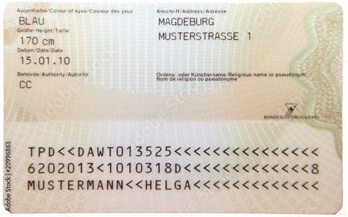 Fototapeta Personalausweis Deutschland 2010 obraz