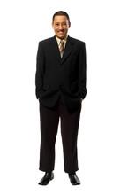 Success Fullbody Business Man