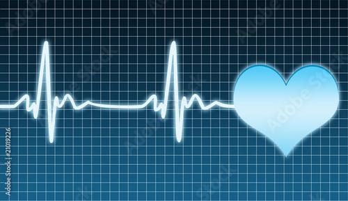 Fotografía  Cardiogram of heart