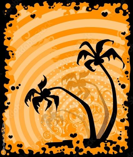 Fotorollo basic - summer banner with tropical palms (von Forewer)