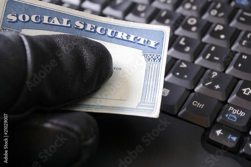 Identity theft and Social Security card Tapéta, Fotótapéta