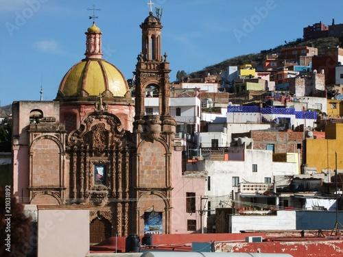 In de dag Mexico Eglise de Guanajuato
