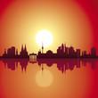 Deutschland - Städte - Panorama - Sonnenuntergang