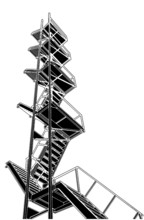 A Fire Escape Stairs Vector 01
