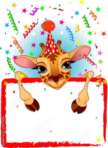Photo  Baby Giraffe Birthday